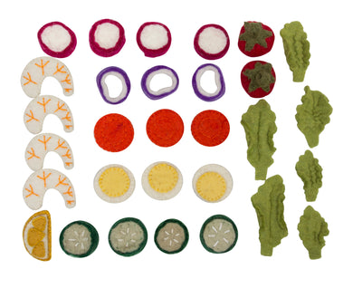Food - Felt Salad Set (30 pieces)