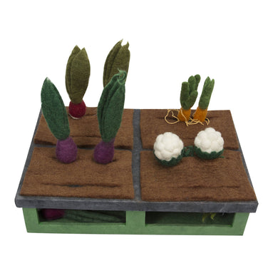 Felt food - Felt food Mini grow a garden set - 16 pieces set - From Papoose's food collection - Papoose