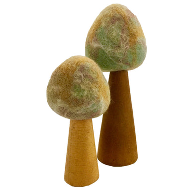 Felt Trees - Earth - Trees - 2 pieces - From Papoose's felt trees collection - Papoose