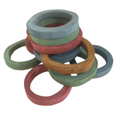 Wooden toys - Wood Rings - From Papoose's animals collection - Papoose