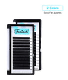 Two Trays Mix Length Easy Fanning Lashes - Fadlash