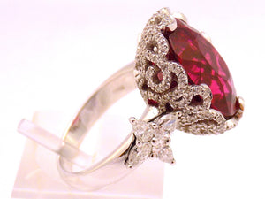 Anello in oro con Rubellite e Diamanti