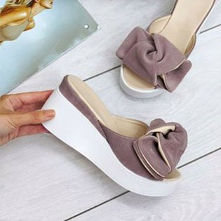 Women Casual Flower Wedge Sandal Shoes