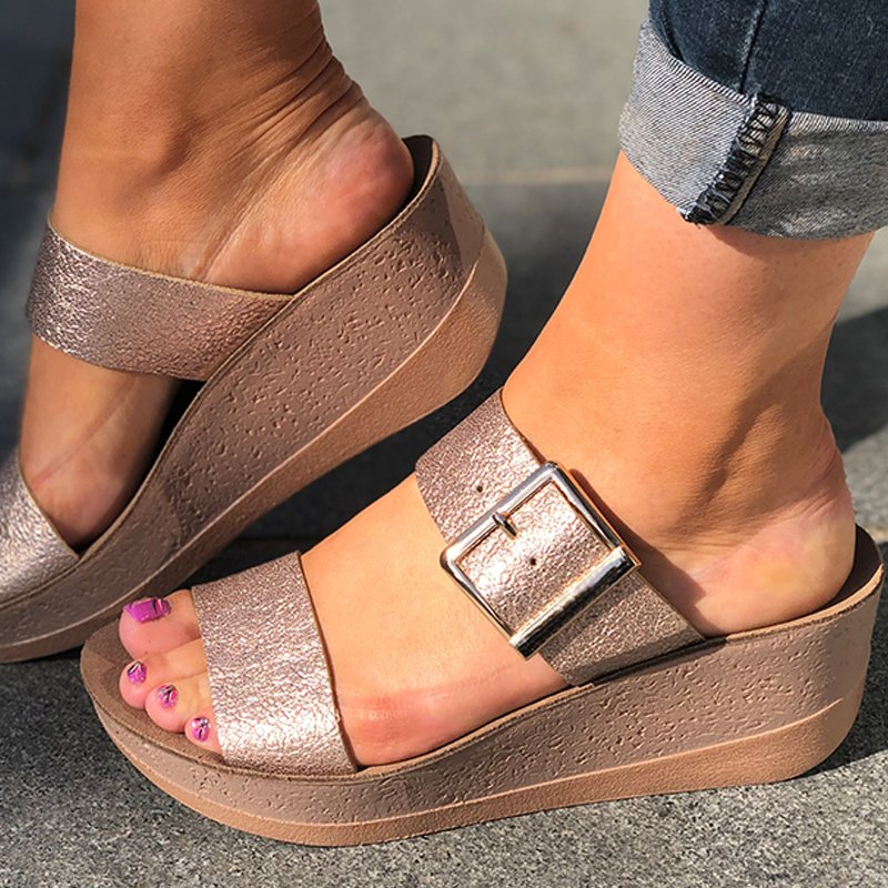 Women Ladies Slip On Sandal Shoes
