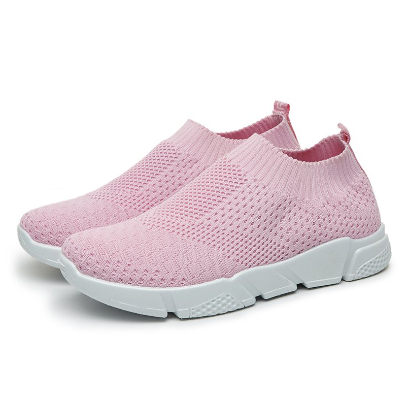 Breathable Elastic Cloth Sneakers Platform Slip On Sneakers