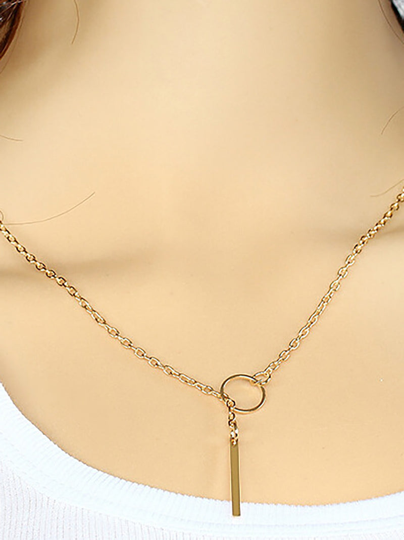 Collier Simple en Alliage pour Femmes