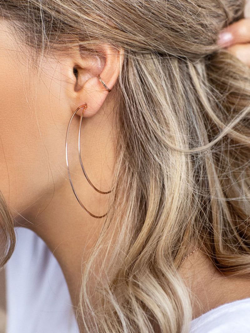 Boucles d'oreilles Simple En forme de Lune