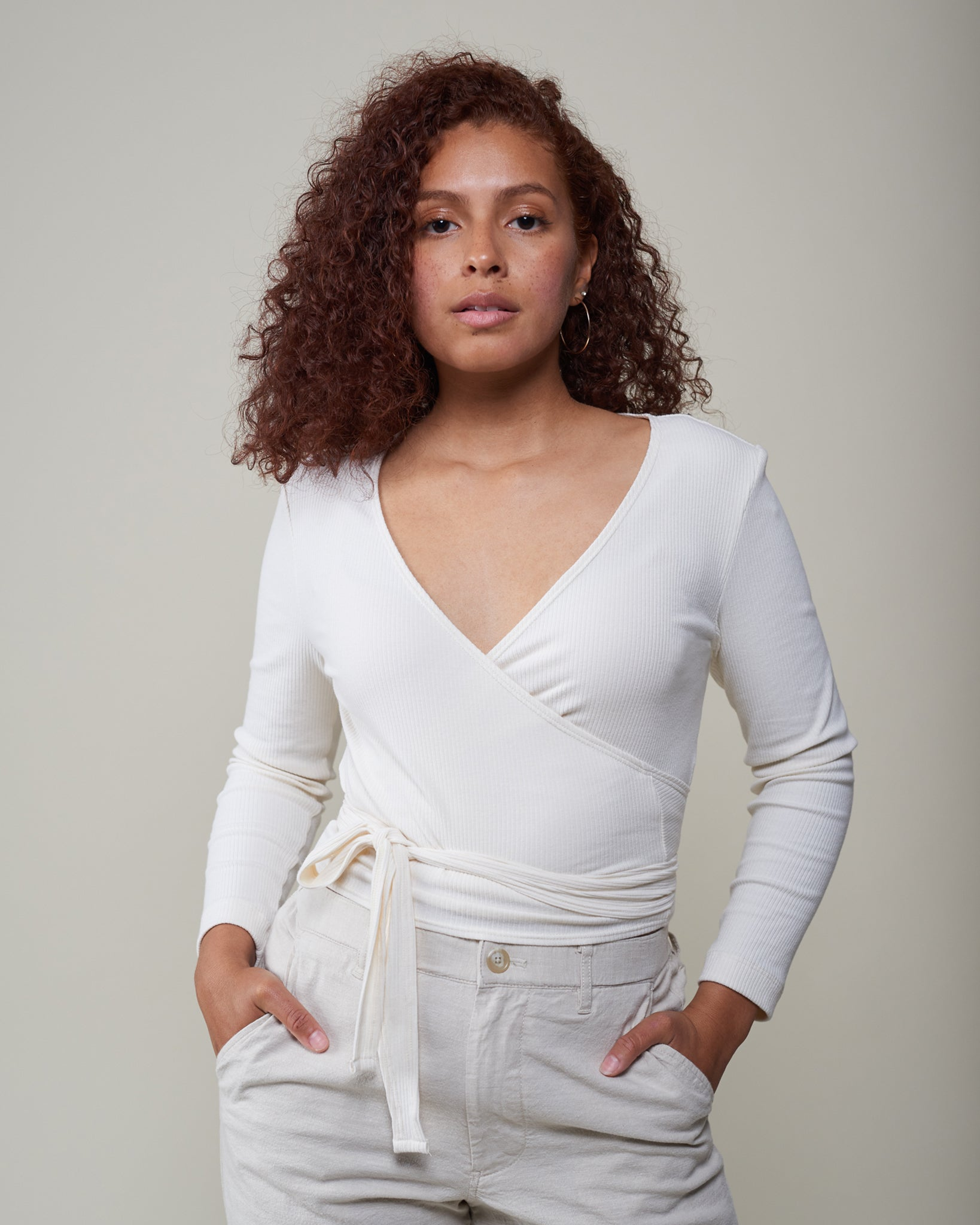 The Nely Wrap Top - 20% Off