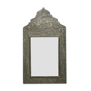 Moroccan carved wood mirror