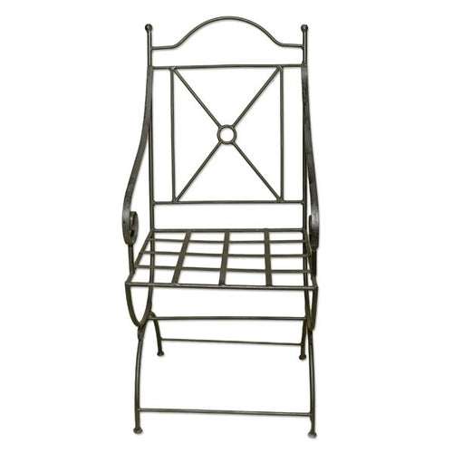Wrought iron armchair Arcos