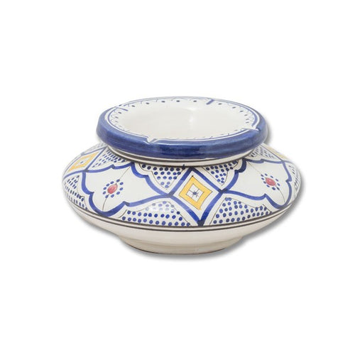Moroccan large Arabic Andalusian ceramic ashtray