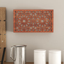 Load image in the gallery viewer, Arabic wall light Andalusian cherry wood lattice