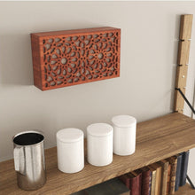 Load image in the gallery viewer, Arabic cherry wood lattice wall lamp Andalusia