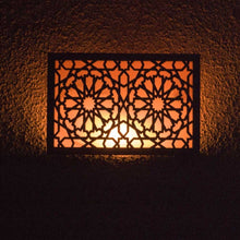 Load image in the gallery viewer, Arabic wooden lattice wall light Andalus on
