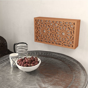 Arabic wooden lattice wall light Andalus natural