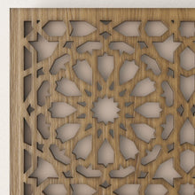 Load image in the gallery viewer, Arabic wall light Andalusian walnut wood lattice