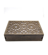 Load image in the gallery viewer, Arabic wooden lattice wall light Andalus wenge