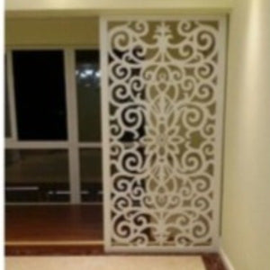 floral wooden arabic screen