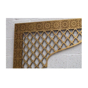Moroccan headboard for bed gold