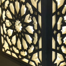 Load image in gallery viewer, white Kheder model wooden lattice arabic lamp