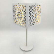 Load image in the gallery viewer, Arabic wooden lattice lamp Kheder table model