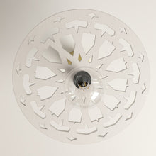 Load image in the gallery viewer, Arabic white Mudawar model lattice ceiling lamp