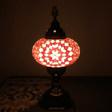 Upload picture to gallery viewer, big red turkish lamp lit