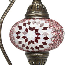Load image in gallery viewer, turkish red murano glass lamp