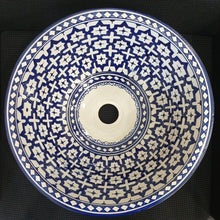 Load image in gallery viewer, Moroccan ceramic basin from Fez crafts