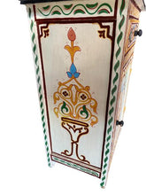 Upload image to gallery viewer, handcrafted white Moroccan bedside table