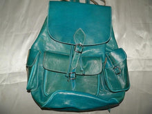Load image in gallery viewer, leather goods blue natural leather