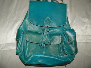 leather goods blue natural leather