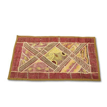 Load image in gallery viewer, red India rectangular handmade tapestry