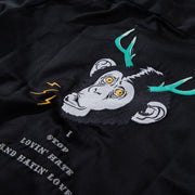 EMBROIDERY FRONT/ PRINT BACK - MONKEY