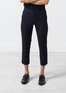 Wool Cropped Pant in Navy