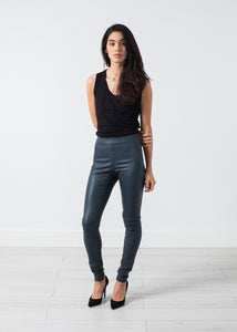 Elenaso Leather Trouser in Cool Grey