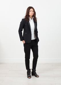 Shawl Collar Blazer in Black