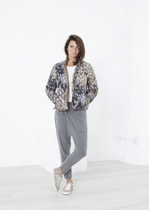 Deione Coat in Graphite Floral