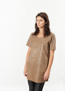Leather Front Tunic