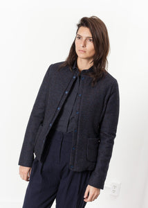Camelia Reversible Jacket in Navy/Blue