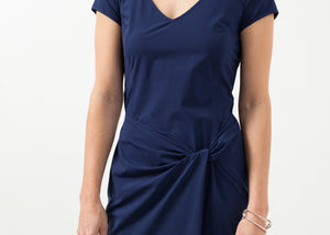 V-Neck Twist Dress