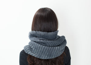 Knit Neck Warmer in Grey