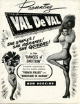 ORIGINAL Val de Val show booking card - VERY RARE!