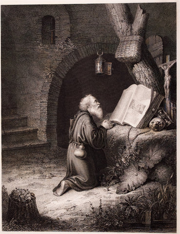 Wallace, Robert; after Gerhard Douw: The Hermit