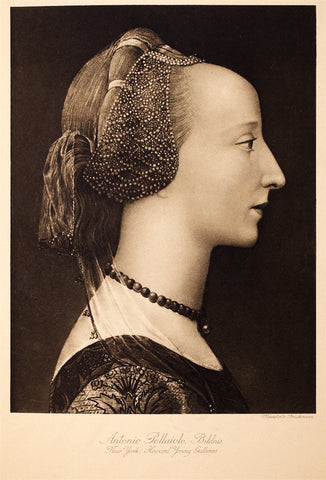 Bruckman, (after del Pollaiolo): Antonio Pollaiolo, Portrait of a Renaissance Lady