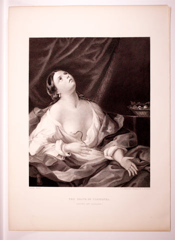 Reni, Guido (1757-1642), after: Cleopatra with Asp, (from original, c. 1628). Mezzotint engraving by Pinx, H.C. Shenton and finished by H. Bourne
