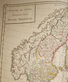 Tardieu, Pierre Francois (1711-1771): Map of Sweden, Finland, Norway and some of Denmark