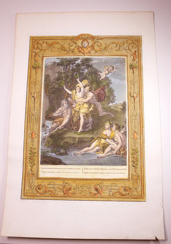Picart, Bernard (1673 - 1733): DAPHNE PURSUED BY APOLLO AND TURNED INTO A LAUREL