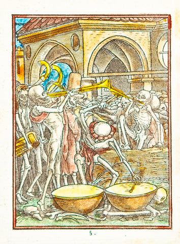 "Holbein, Hans (1497-1543), the younger: ""Bones of All the Men"" from Dance of Death"