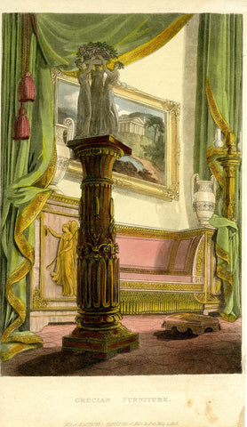 Ackermann, Rudolph: Grecian Furniture in a Victorian setting